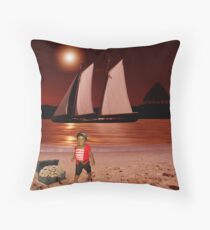 Baby Pirate of the Caribbean Throw Pillow
