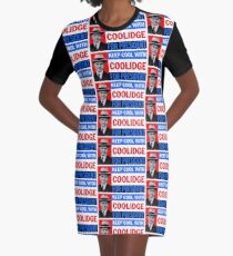 KEEP COOL WITH COOLIDGE Graphic T-Shirt Dress
