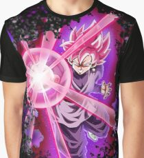 black Goku Super Saiyan Rose Graphic T-Shirt