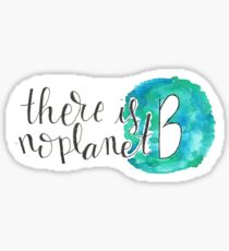 There Is No Planet B sticker Sticker