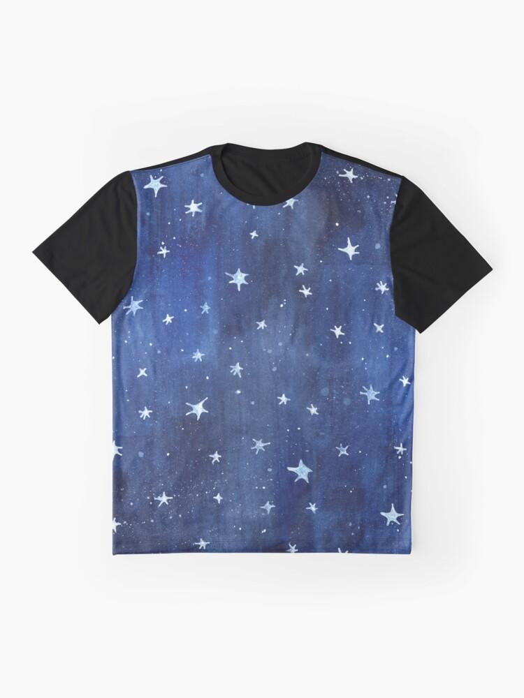 Alternative Ansicht von Stern-Aquarell-Illustration Grafik T-Shirt