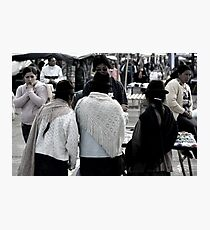 Market Browsers Photographic Print