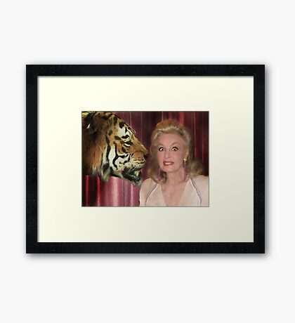 The Lady and The Tiger Framed Print