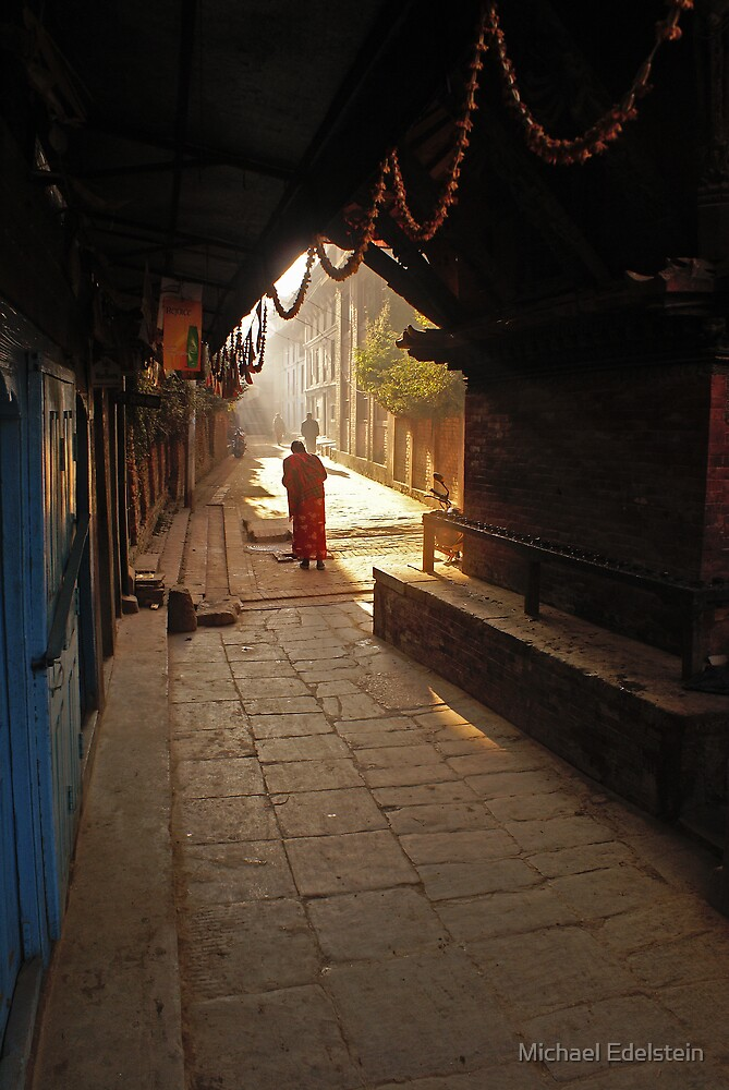Serene street scene. by Michael Edelstein
