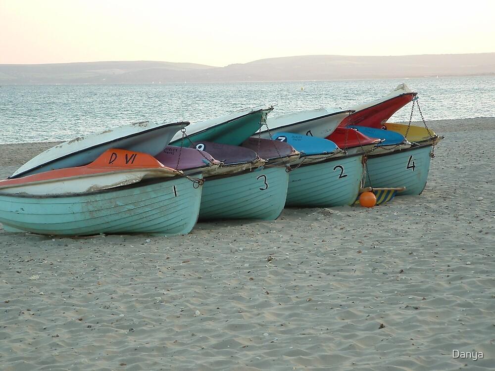 Boats on the beach by Danya