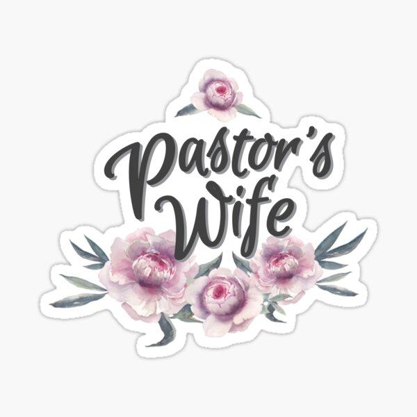 Esposa del Pastor Pegatina