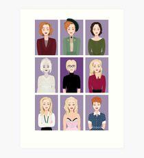 Gillian Anderson - Characters Art Print