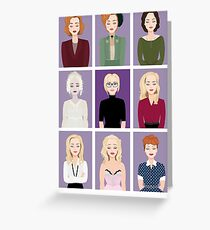 Gillian Anderson - Characters Greeting Card