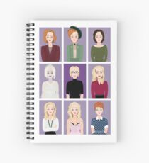 Gillian Anderson - Characters Spiral Notebook