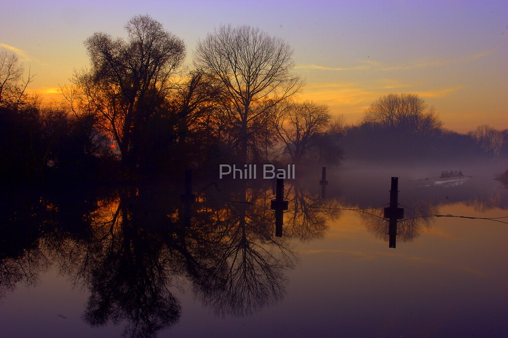Courteny wears River Thames by Phill Ball