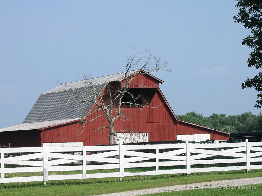 Red Barn In tennessee by ArtExpressions