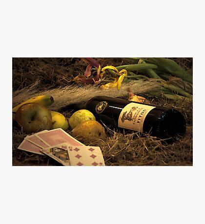 Wine, Food And Solitude Photographic Print