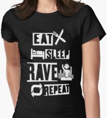 Eat Sleep Rave Repeat Women's Fitted T-Shirt