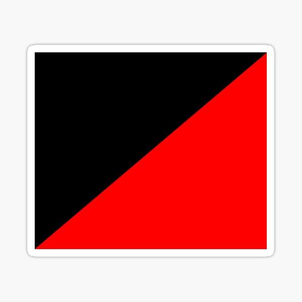 Bandera roja Pegatina