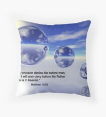 Matthew 10:33 Throw Pillow