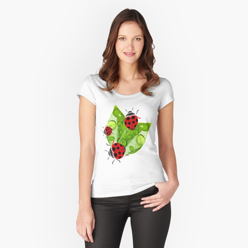 lady bug ( 3351  views) Women's Fitted Scoop T-Shirt Front