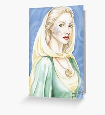 Child of the goddess - Celtic lady Greeting Card