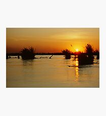 Sunset in the Zambezi Escarpment Photographic Print