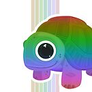 Turtle - Rainbow Retro by Adam Santana