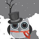 Top Hat Owl - Snow by Adam Santana