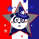Patriotic Panda - Patriotic Star by Adam Santana