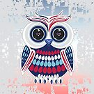 Patriotic Owl - Crackle by Adam Santana