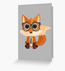 Fox Nerd Greeting Card