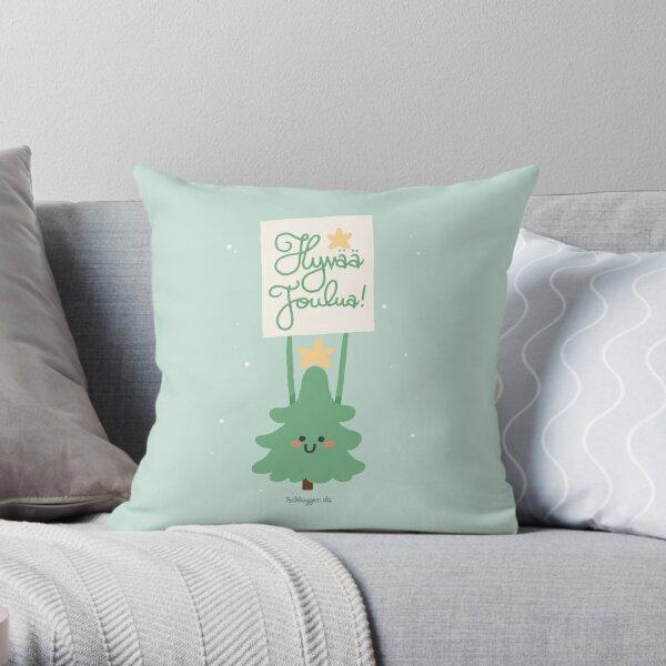 Hyvää Joulua! Throw Pillow