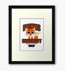 Foxes University Framed Print