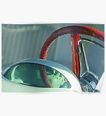 1955 Ford Thunderbird Lenkrad -221c Poster