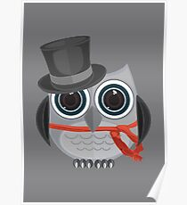 Top Hat Owl Poster