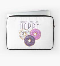 Donuts Make Me Happy Laptop Sleeve