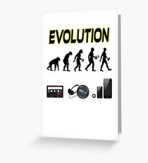 EVOLUTION OF MAN AND MUSIC Greeting Card