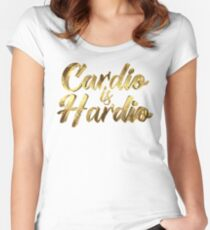 Cardio is Hardio Women's Fitted Scoop T-Shirt