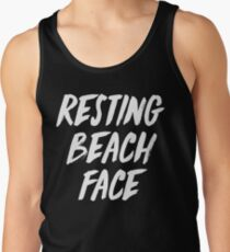 ruhendes Strandgesicht Tanktop für Männer