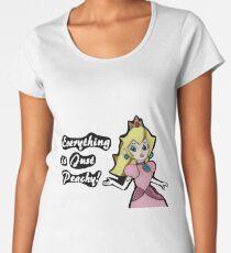 "Princess Peach ""Everything is Peachy"" Women's Premium T-Shirt"