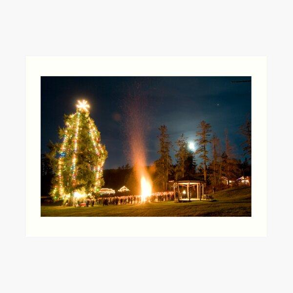 Moonrise on Christmas Eve, Mayne Island Art Print