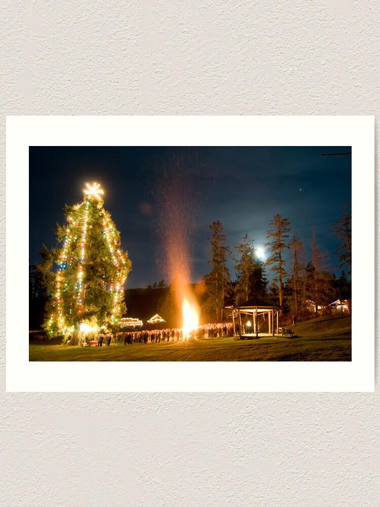 Alternate view of Moonrise on Christmas Eve, Mayne Island Art Print