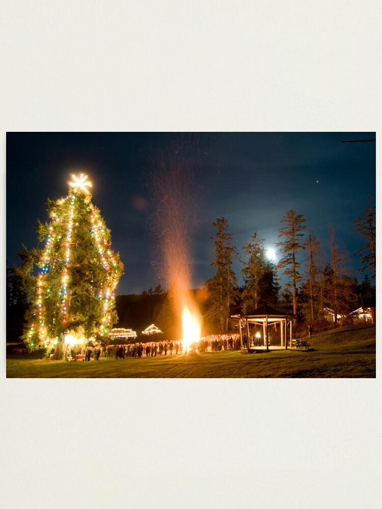 Alternate view of Moonrise on Christmas Eve, Mayne Island Photographic Print