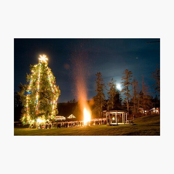 Moonrise on Christmas Eve, Mayne Island Photographic Print