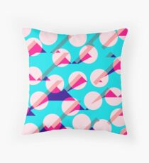 Dots and Triangle Abstract Pattern art Throw Pillow