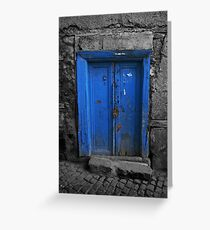 Blue Door In The Castle Greeting Card