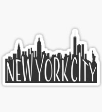 skyline silhouette - nyc Sticker