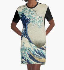 Die große Welle vor Kanagawa - Hokusai 1829-1833 T-Shirt Kleid