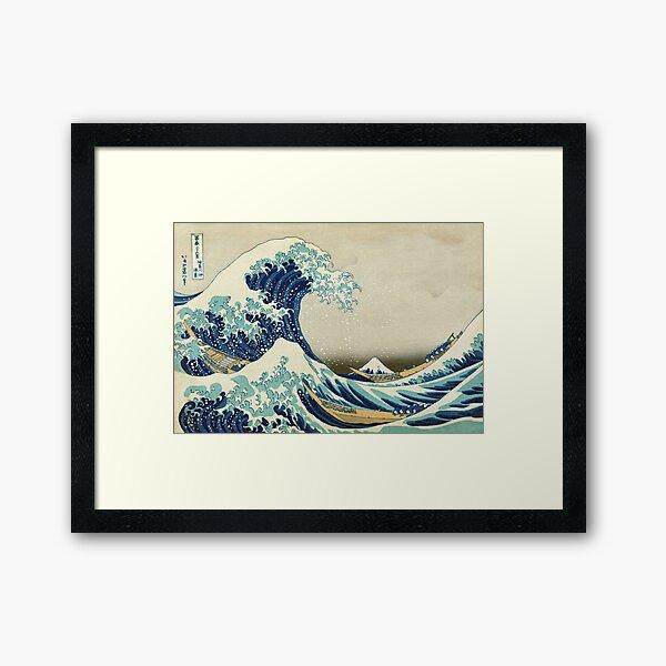 The Great Wave off Kanagawa - Hokusai 1829–1833 Framed Art Print
