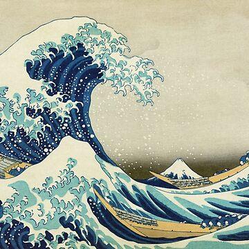 The Great Wave off Kanagawa - Hokusai 1829–1833 by billythekidtees