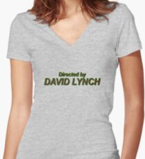 Direcetd by David Lynch Women's Fitted V-Neck T-Shirt