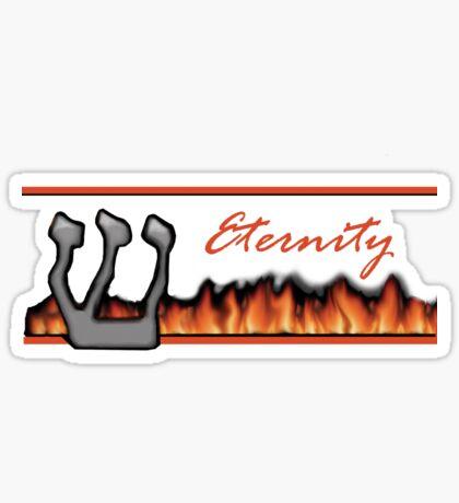 eterntity red letters Sticker