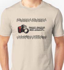 Shoot Photos Not Bullets Unisex T-Shirt