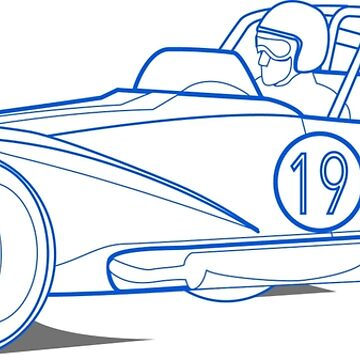 Lotus 7 Technical Drawing by superleggera
